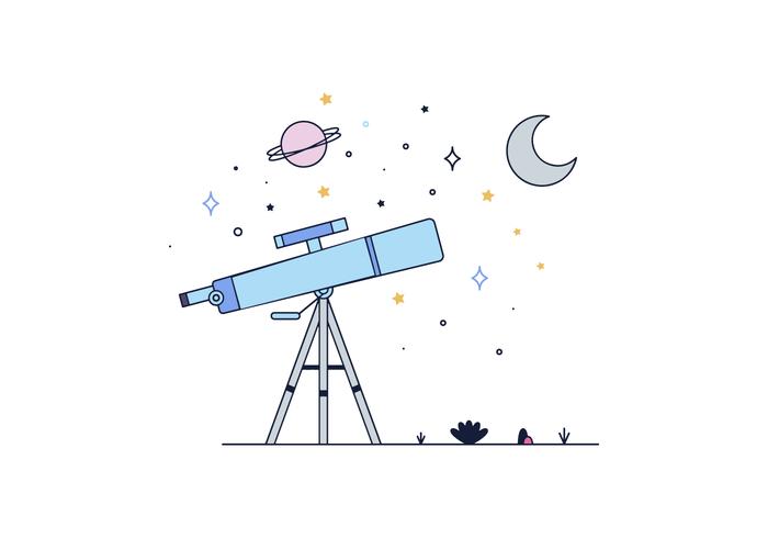 Vector libre Telescopio