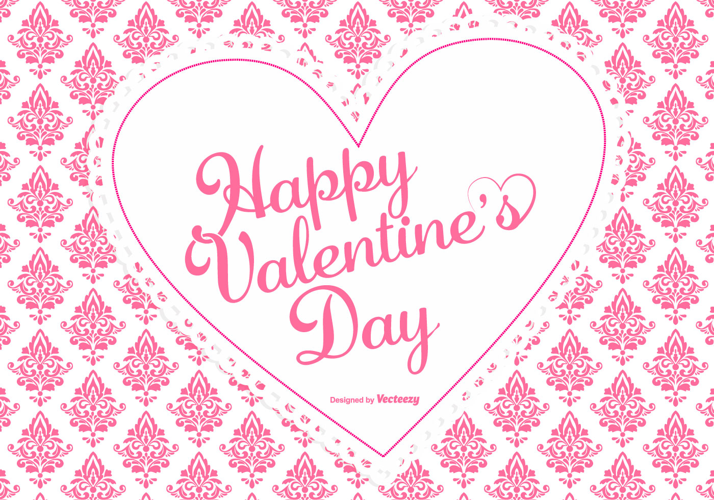 Cute pink damask valentine 39 s day background download free vectors clipart graphics vector art - Cute valentines backgrounds ...