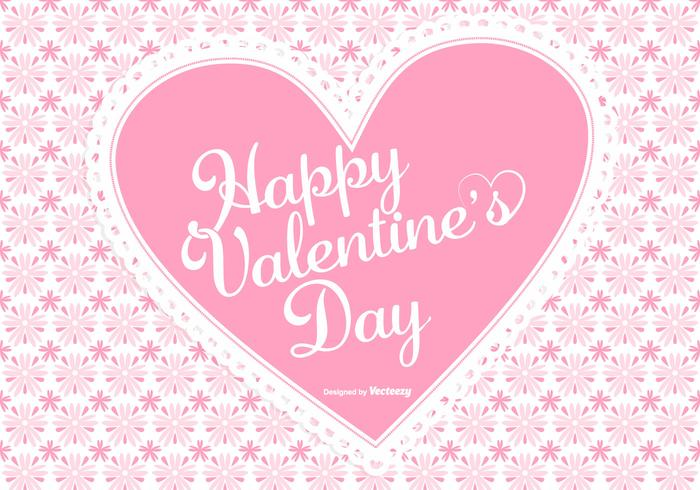Cute Pink Valentine\'s Day Background - Download Free Vector Art ...
