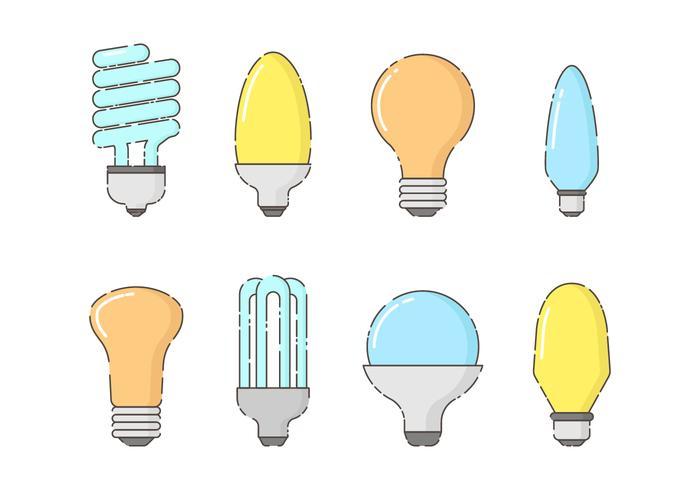 Free Set of Bulbs Vector