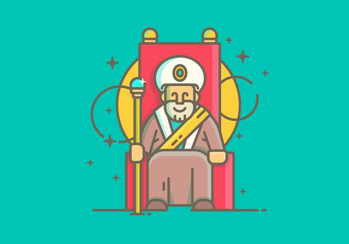 Linear Einfache Sultan Vector Illustration