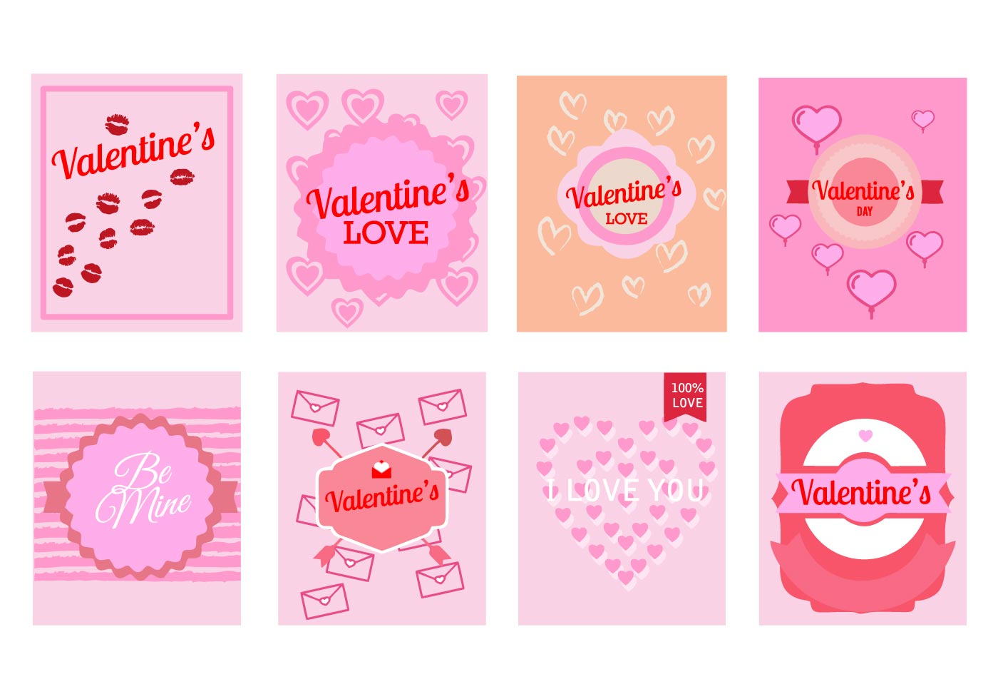 Free Valentines Day Greeting Cards Vector Download Free Vector