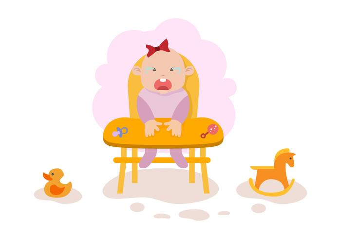 Free Crying Baby Illustration Vector