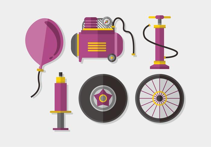 Air Pump Elements Vector Pack