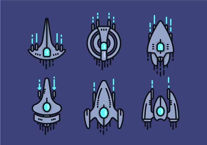Starship Linear Vector Icon Sets