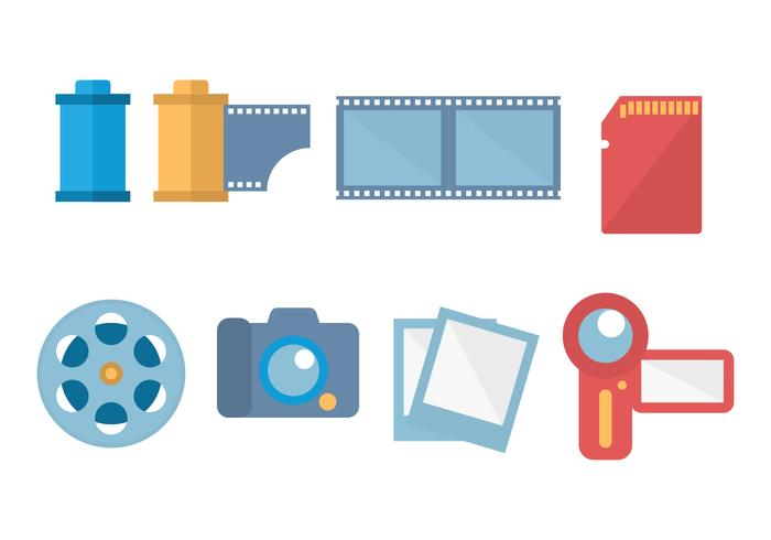 Free Digital Camera and Film Canister Vector