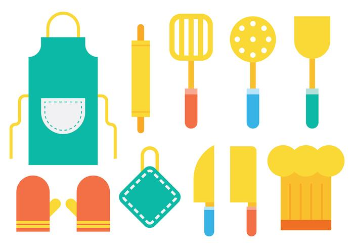 Bright Cocina Icons Vector