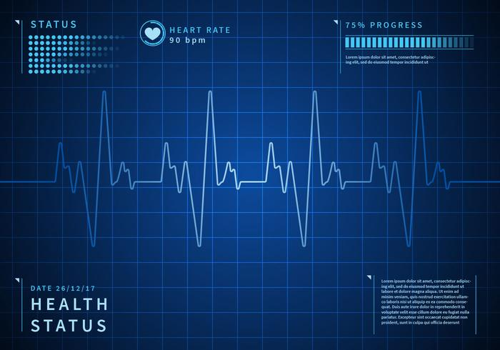 Detailed Heart Rate Background Free Vector - Download Free Vector ...