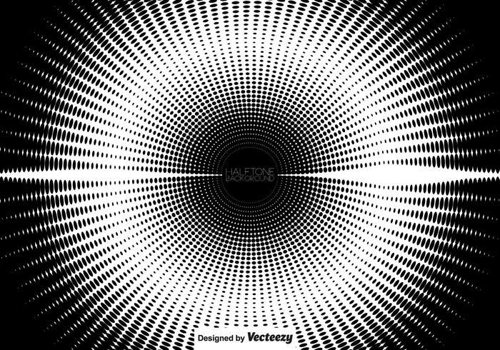 Cirkulär vektor halvton
