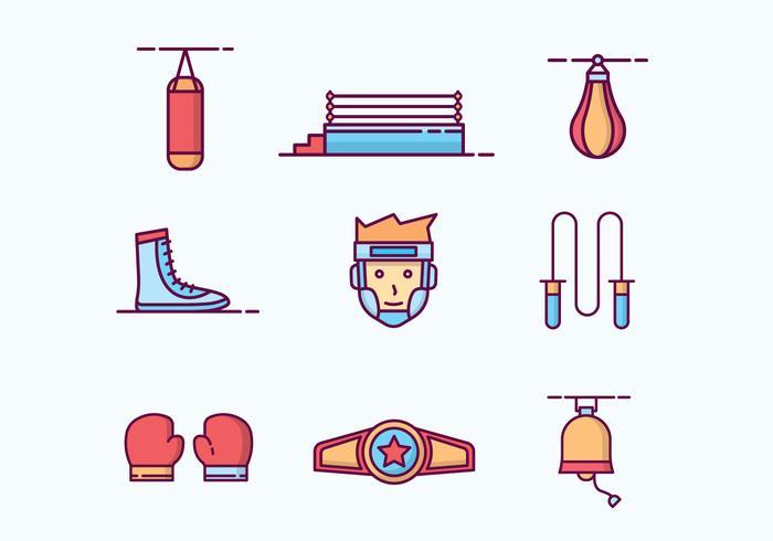 Gratis geschetst Boxing Icons