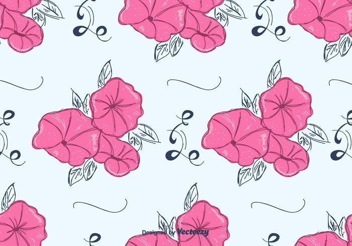 Rose Petunia Motif Vector