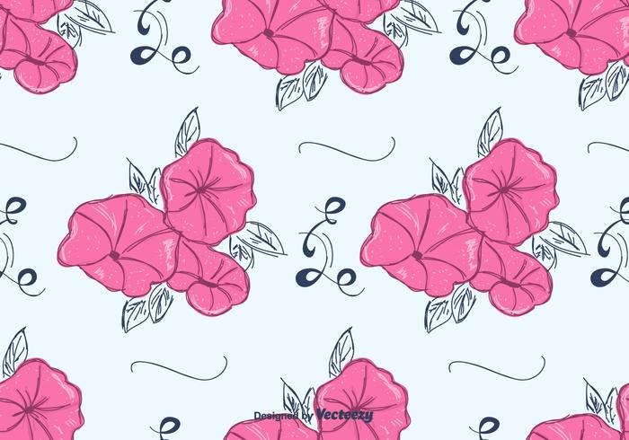 Rosa Petunia mönster vektor