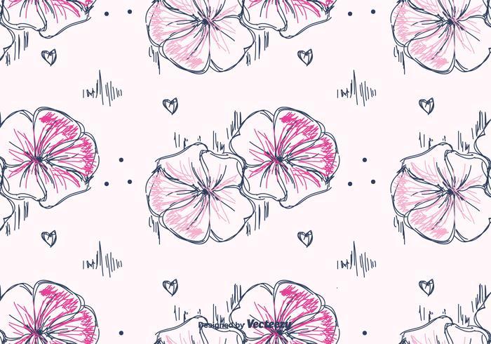 Hand Drawn Petunia Pattern Vector