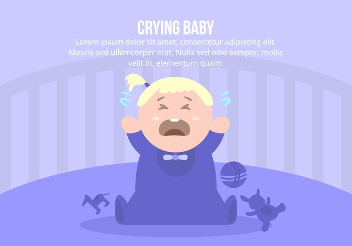 Crying Baby Girl Background
