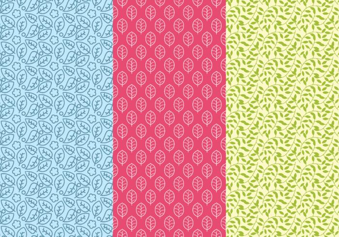 Lövrik bakgrund Daun Seamless Patterns