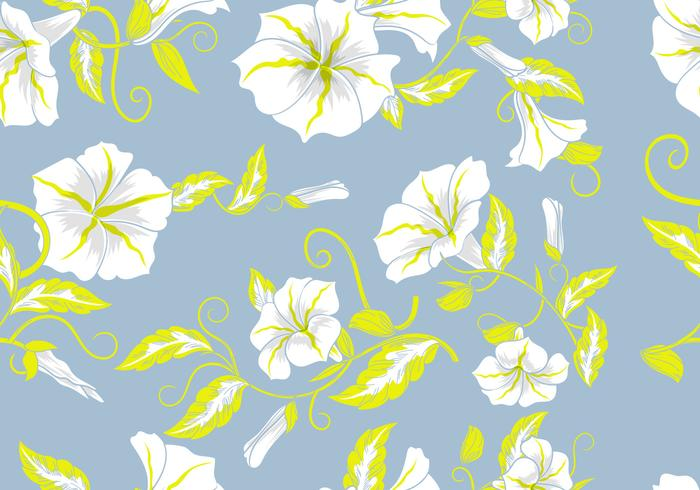 Floral Decorative Background Flowers Pastel Seamless Pattern vector