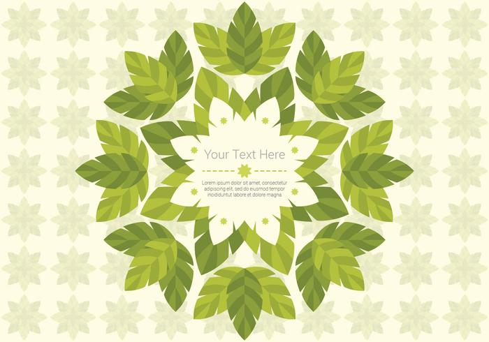 Green Leaf Daun achtergrond vector