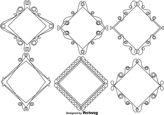 Ornamental línea marcos de estilo - vector - Descargue Gráficos y ...