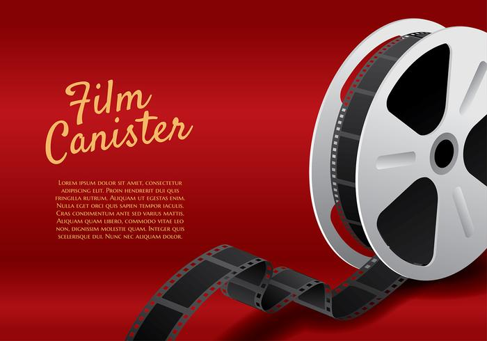 Film Canister Roll Template Vector
