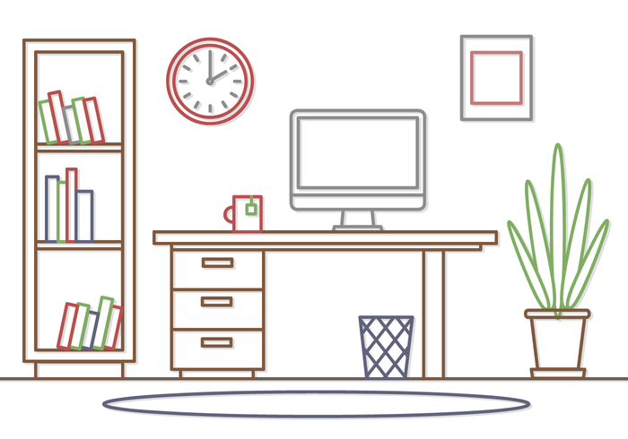 Free Office Workspace Vector