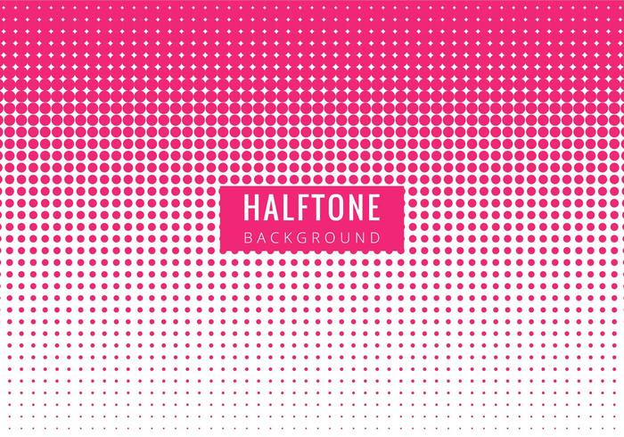 Free Vector Modern Pink Halftone Backgrpound