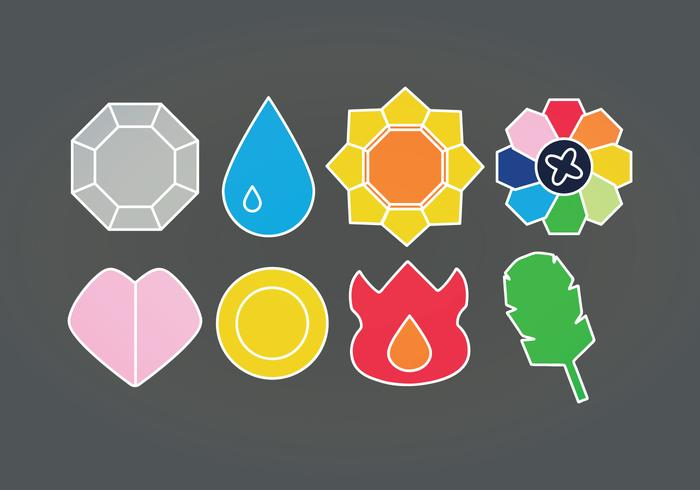 Vector Pokemon Badges