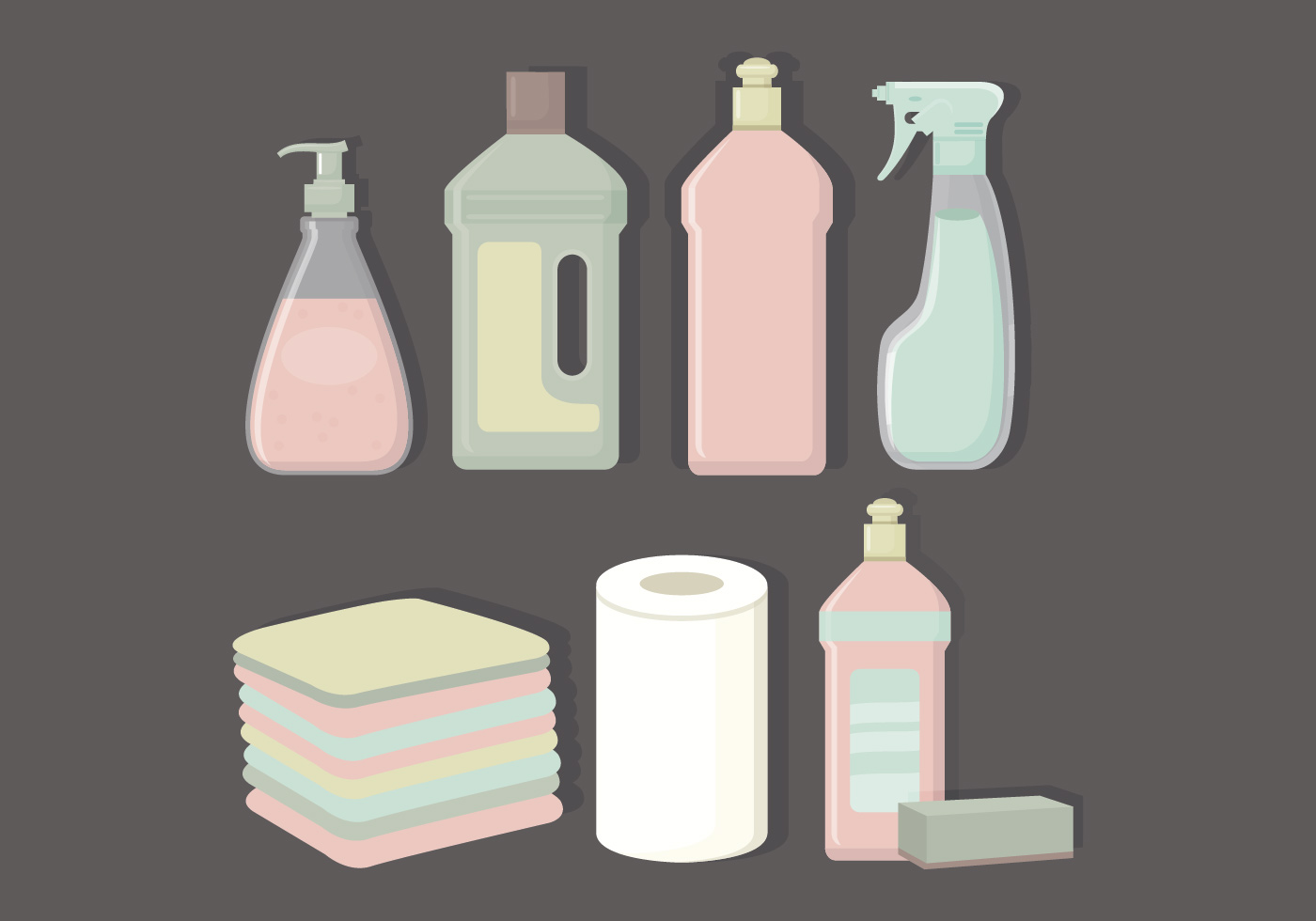 Vector Collection Of Cleaning Products Download Free
