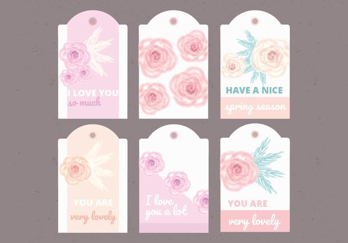Vektor-Sammlung von Blumen Labels