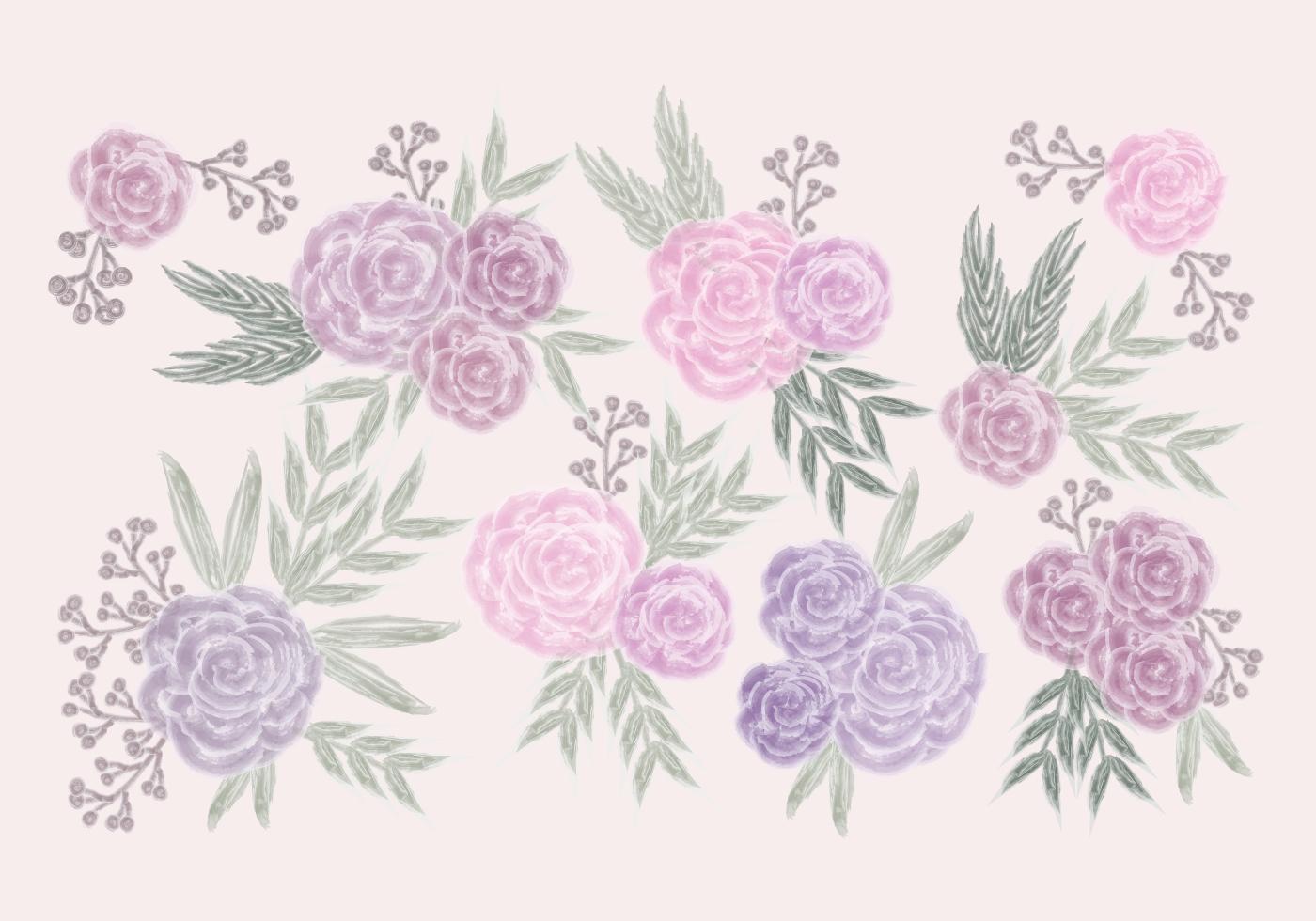 watercolor rose free vector art 6556 free downloads