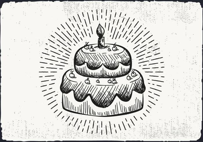 Free Hand Drawn Cake Background