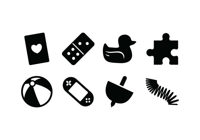 Silhouette Toy Icon Vectors