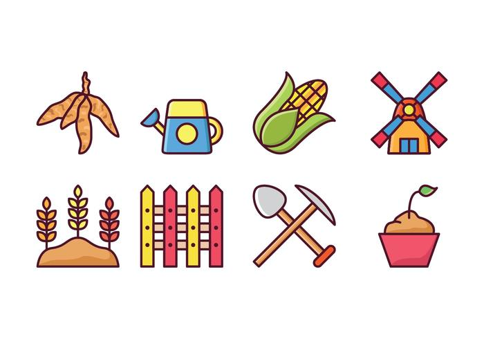 Agricultura Icon Set