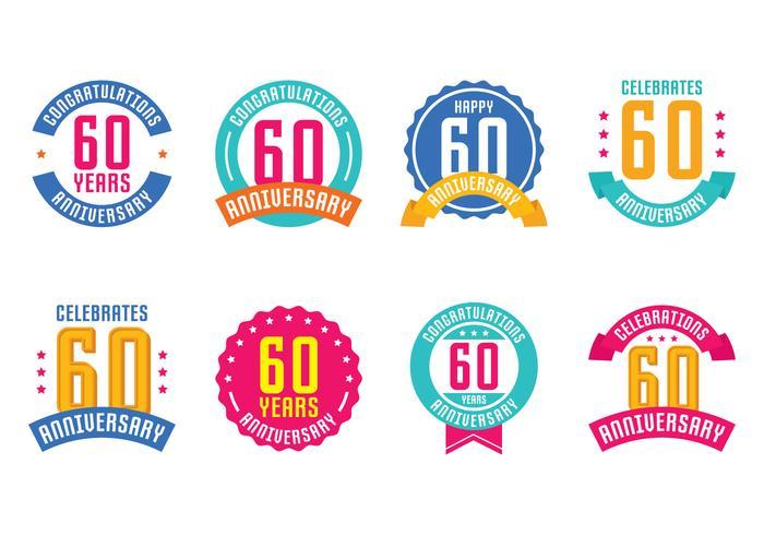 60th Anniversary Emblems
