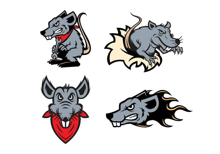 Fria råttor Mascot Vector