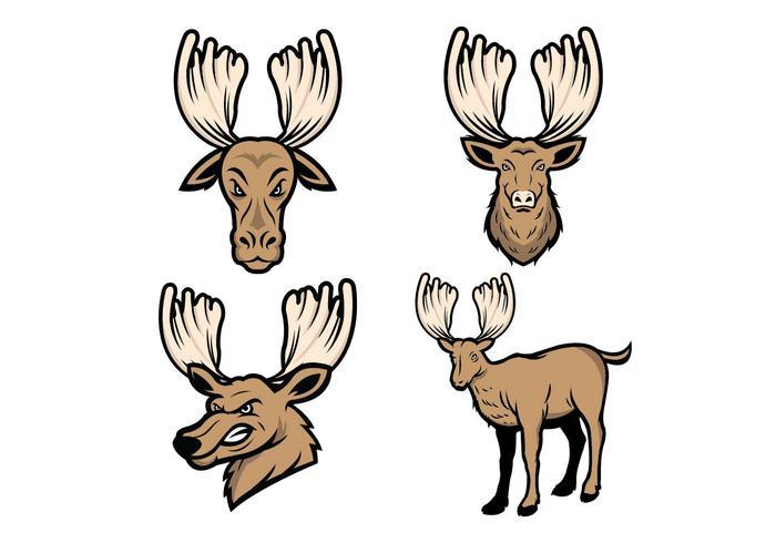 Free Moose Mascot Vector