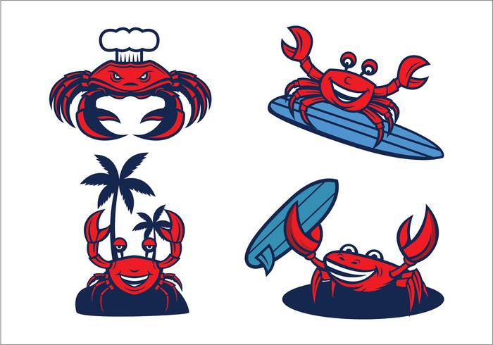 Vector libre de la mascota de los cangrejos