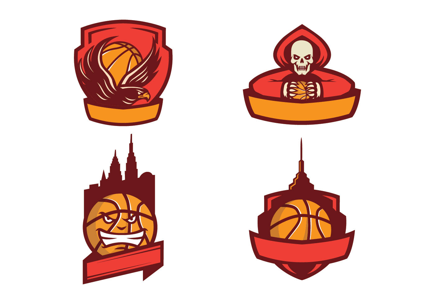 Free basketball logo vector download free vector art stock graphics images for Free basketball vector