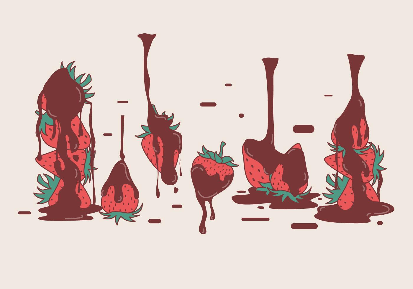 Chocolate Strawberry Free Vector Art 1464 Free Downloads