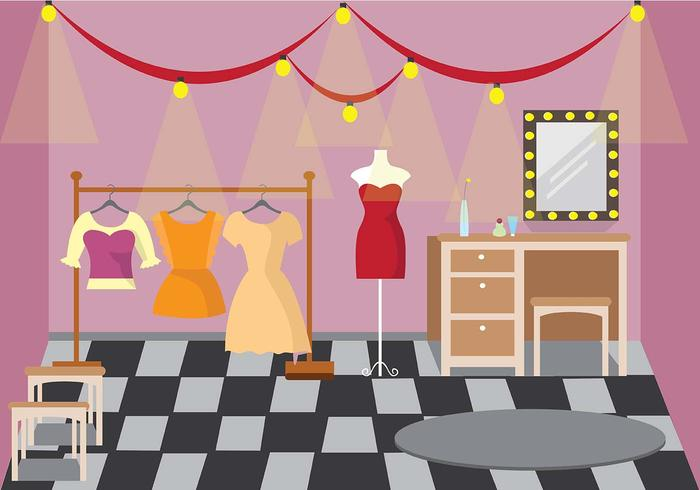 Theater Dressing Room Vector