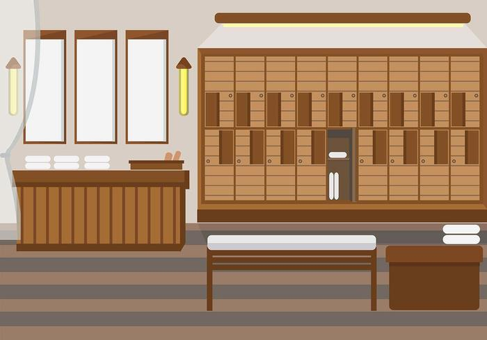 Dressing Room Spa Vector