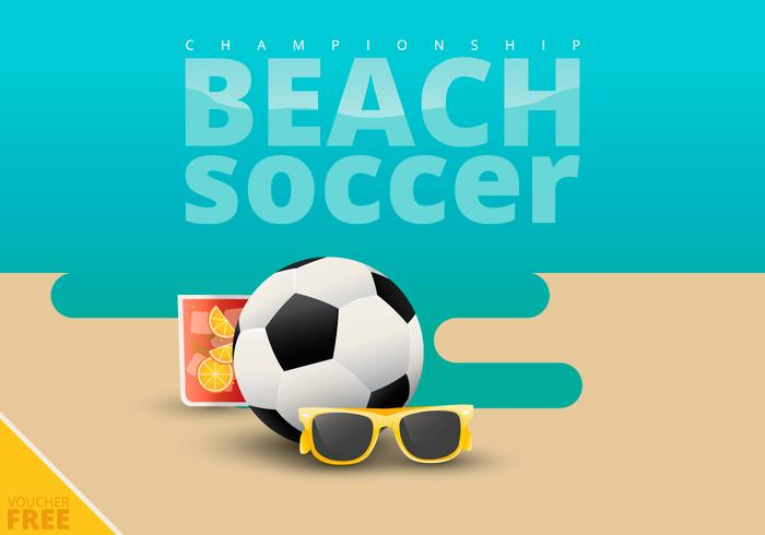 Beach Soccer Illustration