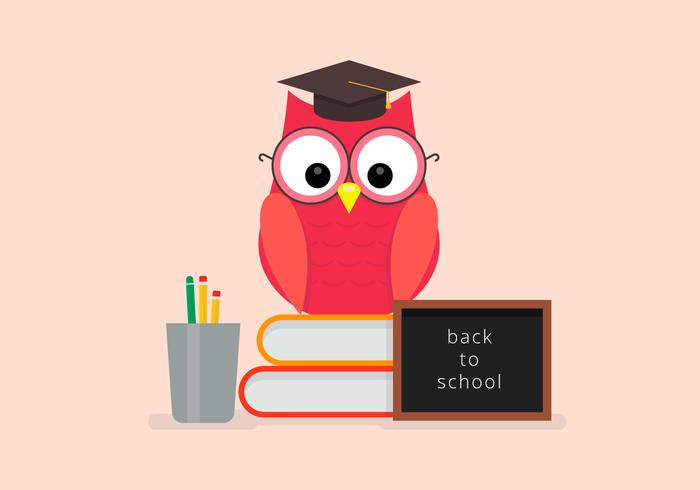 Back to School Owl Student Vector