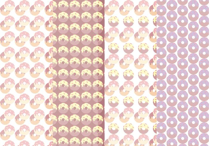 Vector Collection of Seamless Donuts Patterns