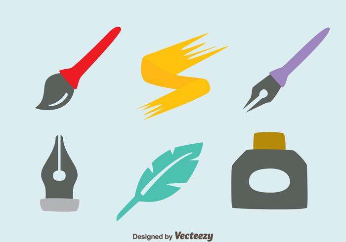 Inkwell Element Vektorer