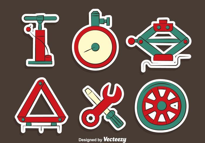 Car Repair Tools Vectors