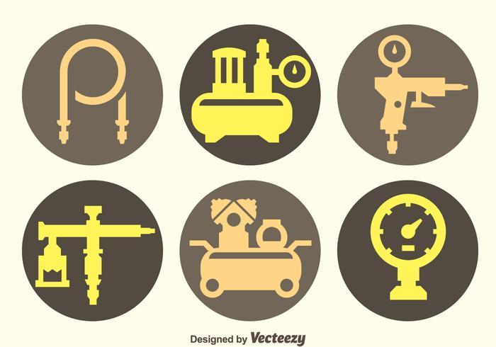 Air Compressor And Accessories Vectors