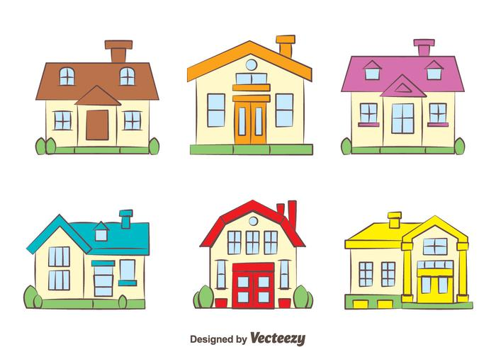 Colorful Chalet Collection Vectors