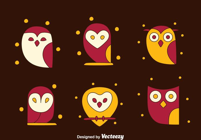 SImpke Owl Collection Vectors