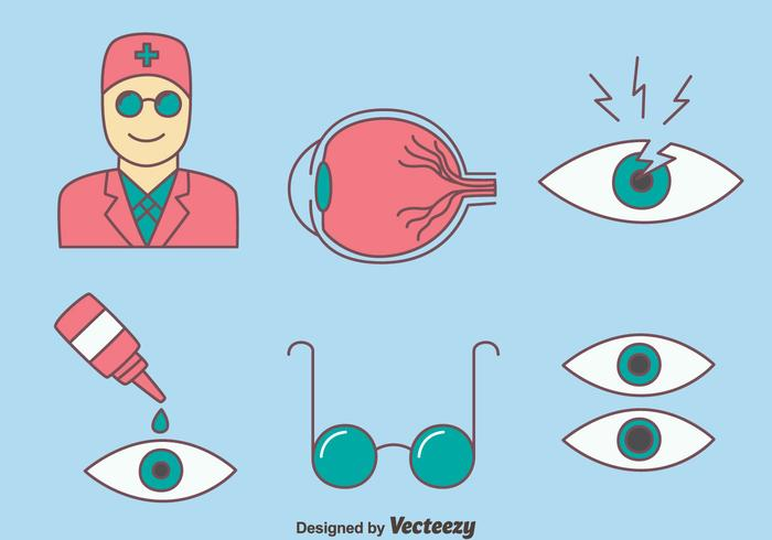 Eye Doctor Icons Vector
