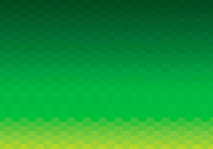 Green Hexagon Background Daun Vector